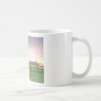 Red Barn at Sunset Coffee Mug