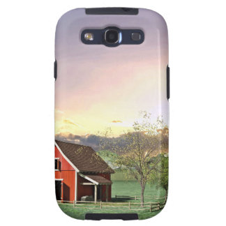 Red Barn at Sunset Galaxy SIII Cover