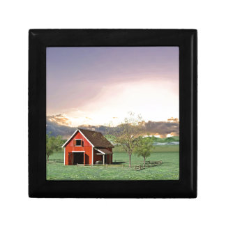 Red Barn at Sunset Gift Box