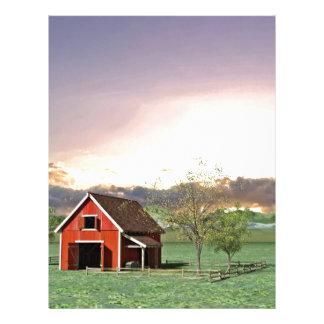 Red Barn at Sunset Letterhead