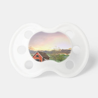 Red Barn at Sunset Pacifier