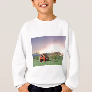 Red Barn at Sunset Sweatshirt