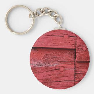 Red Barn Basic Round Button Keychain