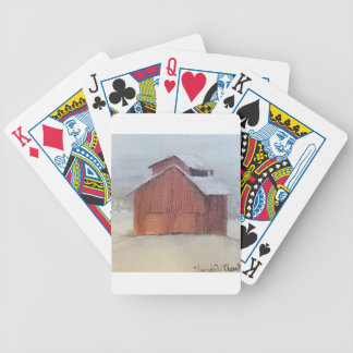 Red Barn Bicycle Playing Cards