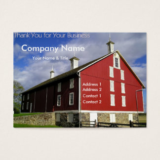 Red Barn Business Card - Thank You