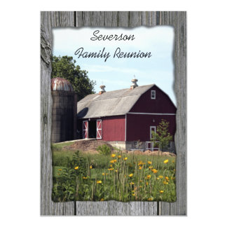 Red Barn Country Family Reunion Invitation
