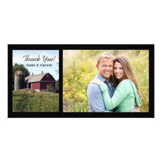 Red Barn Country Thank You Photo Card
