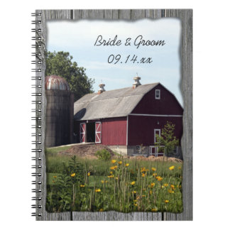 Red Barn Country Wedding Notebooks