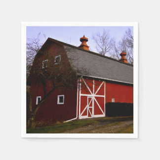 Red Barn Disposable Napkins