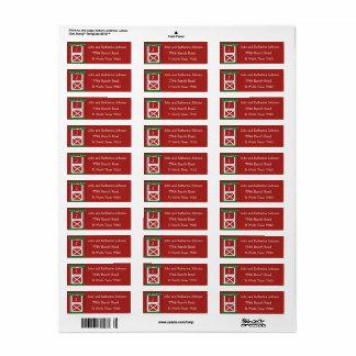Red Barn Door Custom  Holiday Return Address Label