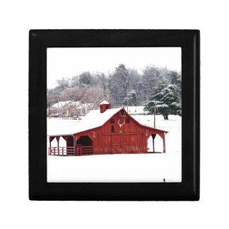 red barn gift box
