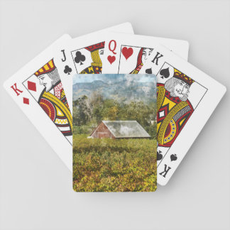Red Barn in a Vineyard Playing Cards