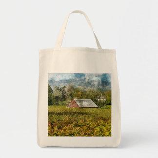 Red Barn in a Vineyard Tote Bag