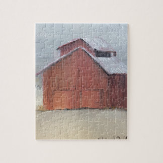 Red Barn Jigsaw Puzzle