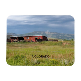 red barn on a Colorado prairie Magnet