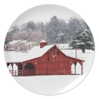 red barn plates