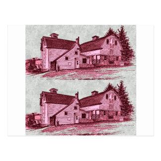 red barn postcard