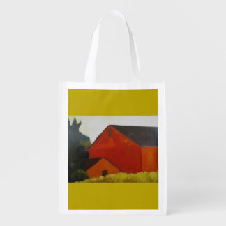 Red barn reusable bag
