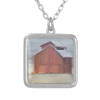 Red Barn Silver Plated Necklace