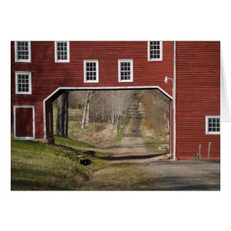 Red barn spring card