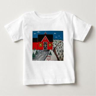 Red Barn Tree Farm Baby T-Shirt