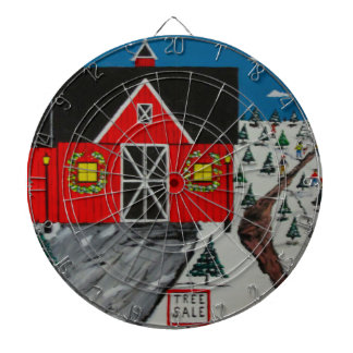 Red Barn Tree Farm Dartboard