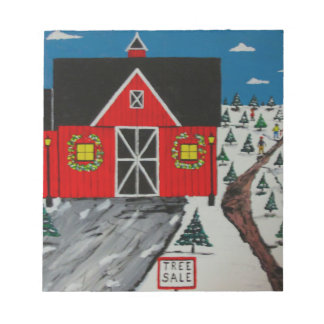 Red Barn Tree Farm Notepad