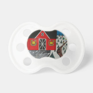 Red Barn Tree Farm Pacifier
