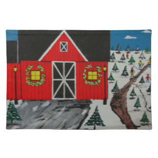 Red Barn Tree Farm Placemat