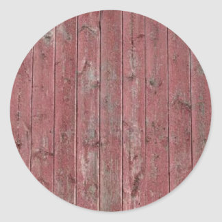 Red Barn Wood Classic Round Sticker