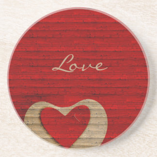 RED BARN WOOD-Personalized Sand Coaster