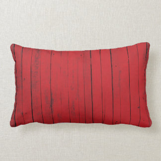 Red Barn Wood Siding Country Farmhouse Lumbar Pillow