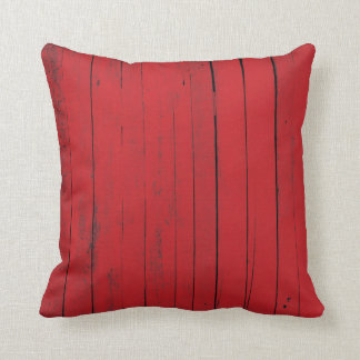 Red Barn Wood Siding Country Farmhouse Throw Pillow