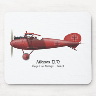 Red Baron aka Manfred von Richthofen and his plane Mouse Pad