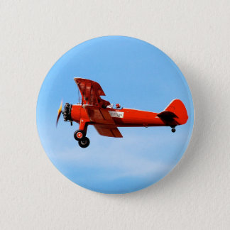 Red Baron Bi Plane 2 Inch Round Button