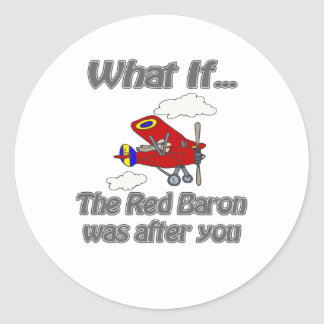 Red Baron Classic Round Sticker