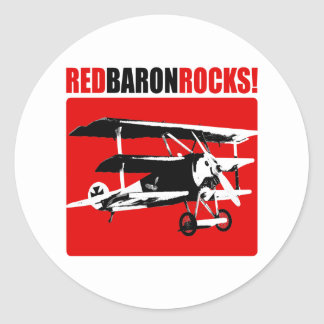 Red Baron Rocks Classic Round Sticker