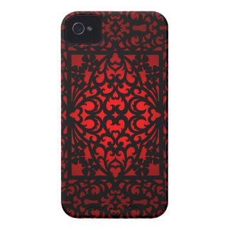 Red Baroque Swirl Design Blackberry Bold Case