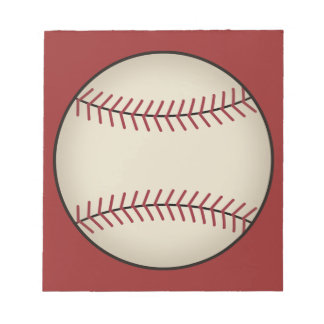 Red Baseball Notepad