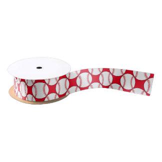 Red Baseball Satin Ribbon