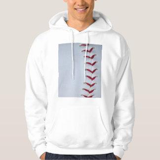 Red Baseball Stitches Hoodie