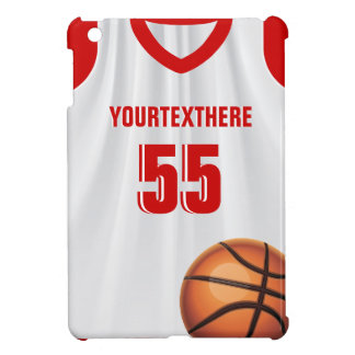Red Basket Ball Dress Name Number iPad Mini Case