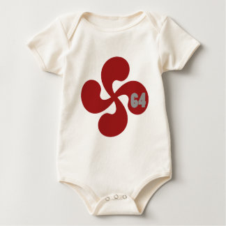 Red Basque crosses 64 Lauburu Baby Bodysuit
