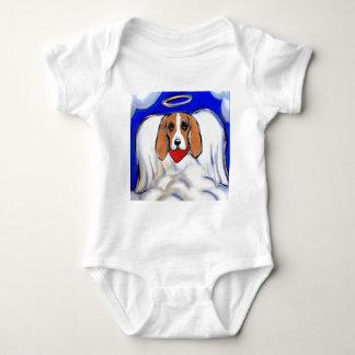 Red Bassett Hound Angel Baby Bodysuit