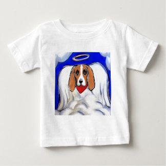 Red Bassett Hound Angel Baby T-Shirt