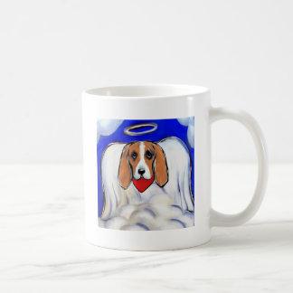 Red Bassett Hound Angel Coffee Mug
