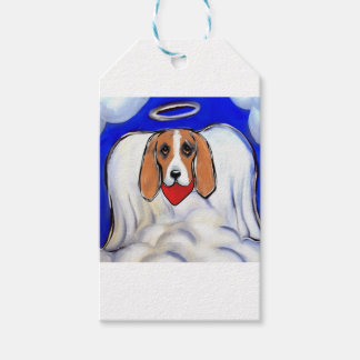 Red Bassett Hound Angel Gift Tags