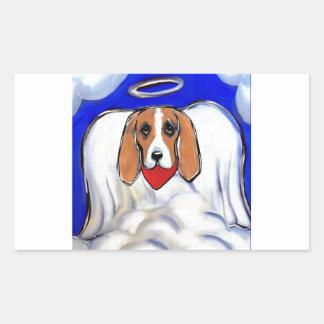 Red Bassett Hound Angel Sticker