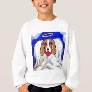 Red Bassett Hound Angel Sweatshirt