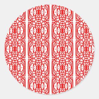 Red Batik Design Stickers